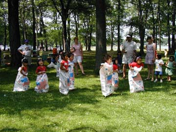Sack Race Little Ones!